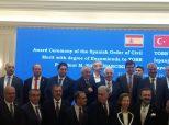 TOBB Başkanı Hisarcıklıoğlu'na İspanya Sivil Liyakat Nişanı