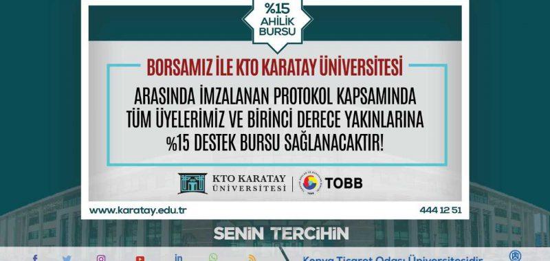 KTO Karatay Üniversitesi Ahilik Bursu Hakkında